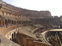 Interior of the Colosseum. Inside the Ancient Rome Colosseum Stock Image
