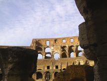 Interior of the Colosseum. Inside the Ancient Rome Colosseum Royalty Free Stock Photos