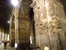 Interior of the Colosseum. Inside the Ancient Rome Colosseum Royalty Free Stock Photo
