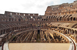 Interior of colosseum in Roma, Italy. Interior of colosseum in Roma in sunny summer day Stock Photos
