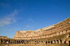 Interior of the Colosseum in Rome Stock Photography