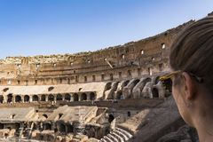 Interior of the Colosseum, Rome Royalty Free Stock Photo