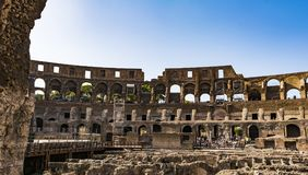 Interior of the Colosseum, Rome Stock Image
