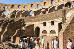 Interior of the Colosseum, Rome Stock Images