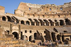 Interior of the Colosseum, Rome Royalty Free Stock Image