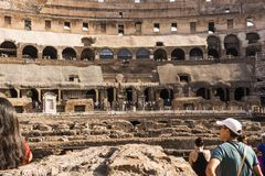 Interior of the Colosseum, Rome Stock Photography