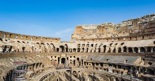 Interior of the Colosseum, Rome Royalty Free Stock Images