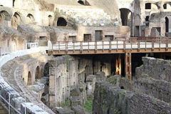 Interior of Colosseum, Rome stock photography