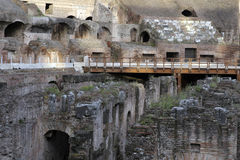 Interior of Colosseum, Rome royalty free stock image