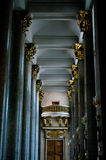 Interior with columns. Of the Kazan cathedral located in St.-Petersburg. Shallow DOF Royalty Free Stock Images