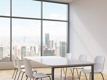 Interior com cadeiras e tabela ilustração do vetor