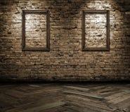 Interior com frames em branco foto de stock royalty free