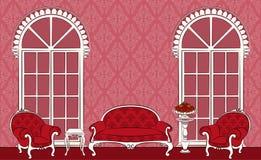 interior com mobília. Fotos de Stock Royalty Free