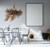 Interior com modelo do cartaz, estilo escandinavo da casa ilustração royalty free