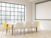 Interior com opinião de NYC ilustração stock