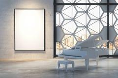 Interior com piano e bandeira Foto de Stock