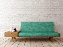 Interior com sofá, fundo Fotos de Stock