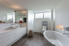 Interior, comfortable bathroom Royalty Free Stock Images