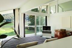 Interior, comfortable bedroom Royalty Free Stock Image