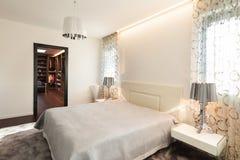 Interior, comfortable bedroom Stock Image