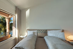 Interior, comfortable bedroom Royalty Free Stock Photography