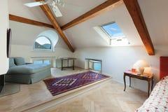 Interior, comfortable bedroom Stock Photos