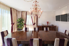 Interior, comfortable dining room Stock Images