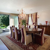 Interior, comfortable dining room Royalty Free Stock Image