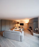 Interior, comfortable living room Royalty Free Stock Photos