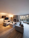 Interior, comfortable living room Royalty Free Stock Images