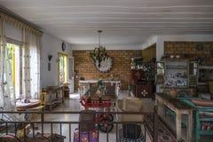 Tiradentes hostel common dining stock image