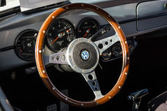 Interior of a compact car Volkswagen Beetle. Royalty Free Stock Photography