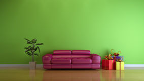 Interior composition. Green modern 3d interior composition Royalty Free Stock Image