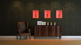 Interior composition. A modern 3d interior composition Royalty Free Stock Images