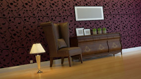 Interior composition. 3d interior composition and classic stile Royalty Free Stock Photography
