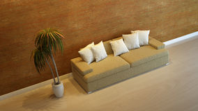 Interior composition. A modern 3d interior composition Royalty Free Stock Photography