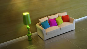 Interior composition. A modern 3d interior composition Royalty Free Stock Image