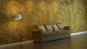 Interior composition. 3d interior composition and classic stile Stock Photos