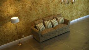 Interior composition. 3d interior composition and classic stile Royalty Free Stock Photos