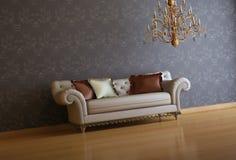 Interior composition. 3d interior composition and classic stile Stock Photo