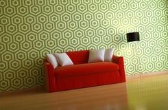 Interior composition. A modern 3d interior composition Stock Image