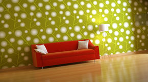 Interior composition. Nice 3d interior composition of room Royalty Free Stock Images
