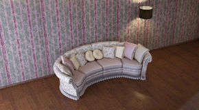 Interior composition. 3d interior composition and classic stile Stock Image