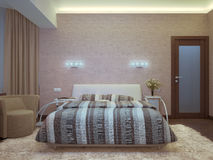 Interior composition. A gray 3d interior composition Stock Images