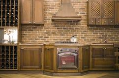Interior con clase de la cocina Imagen de archivo libre de regalías