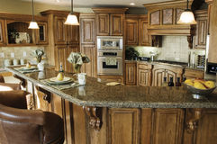 Interior con clase de la cocina fotografía de archivo libre de regalías