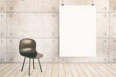 Interior con el cartel en blanco Fotos de archivo libres de regalías