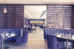 Interior con estilo del restaurante Fotografía de archivo