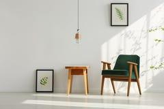 Interior con la butaca verde imagen de archivo libre de regalías