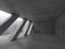 Interior con las columnas diagonales, 3d ilustración del vector